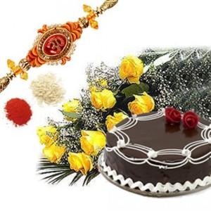 Celebration with a cake