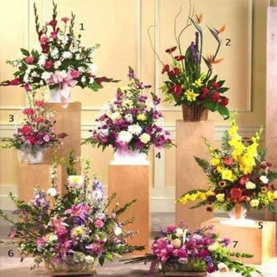 arrangements of seasonal flowers