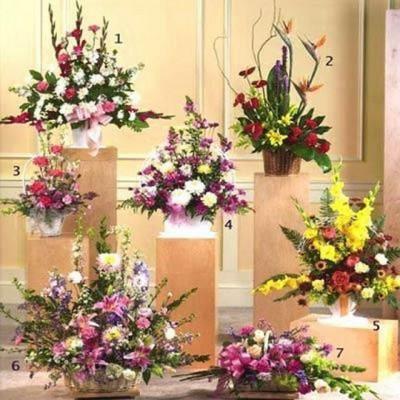 arrangements of seasonal flowers