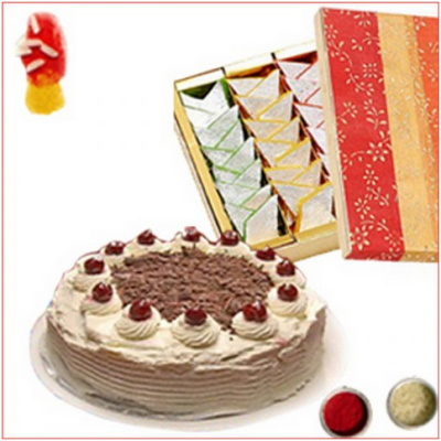 Blackforest cake and Kaju Katli